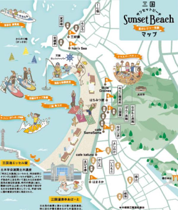 サンセットビーチマップ